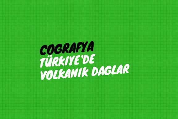 Türkiye'de Volkanik Dağlar
